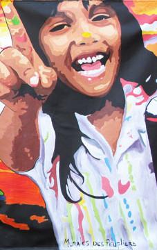 Murale participative pour la Tohu, cité des arts du cirque, Montréal