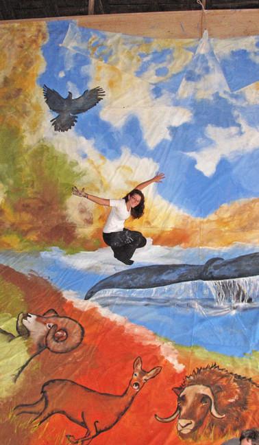 Peinture sur tipi de 48x24 pieds