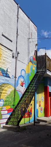 Murale participative à la Maison des Grands-Parents de Villeray, Mtl.