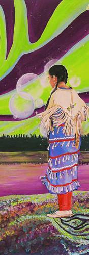 """Nuuhchimiihch: Mashkuusiiwin  Ahchaahkuun: Kuiskutaatisiiwin"" / In the bush: Strength In the spirit: Righteousness / Dans la forêt tu trouveras ta force et dans ton esprit tu trouveras ton guide"