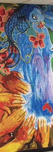 Murale participative LRHS et Polyvalente Lavigne, Lachute