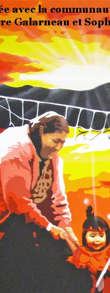 Murale participative Mistissini, Baie-James