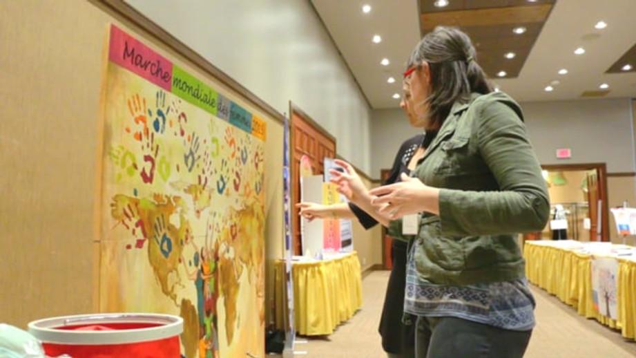 Vidéo de la Murale participative Empreintes de Femmes
