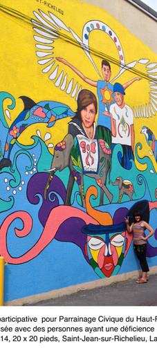 Murale participative Parrainage Civique, Saint-Jean-sur-Richelieu