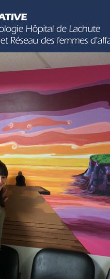 Murale participative département d'hémato-oncologie de l'hôpital de Lachute