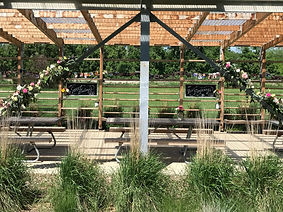 Dunlap Park shelter - decorated for even