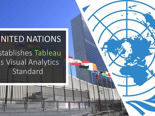 Naciones Unidas establece Tableau como el estándar de Visual Analytics...