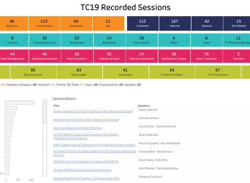 Tableau Conference 2019: Sesiones Grabadas