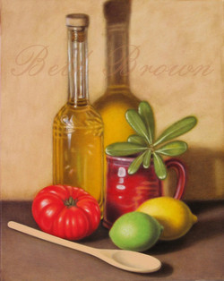 """Olive Oil"" still life by Beth Brown"