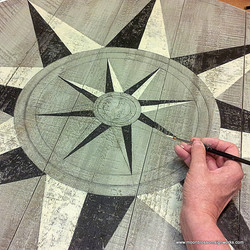Painted barn star by Beth Brown