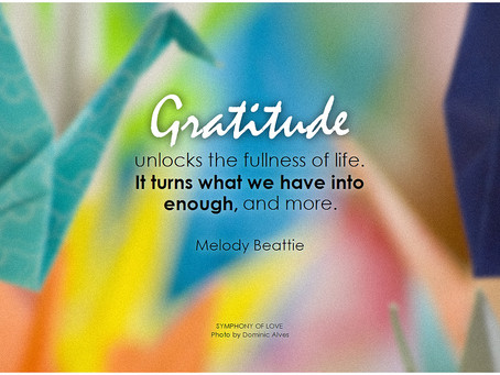 Month of gratitude