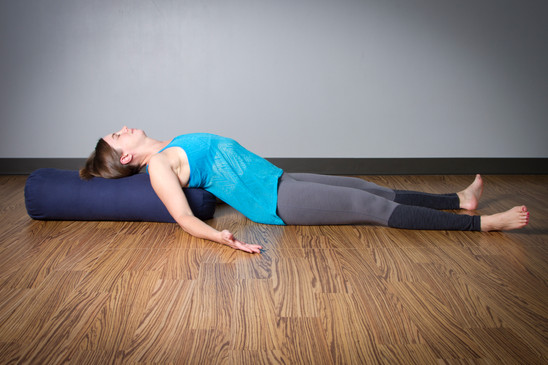 yin yoga supported fish