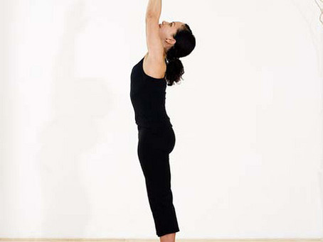 Pose of the Month: Mountain Pose with Raised Hands (Urdhva Hastasana)