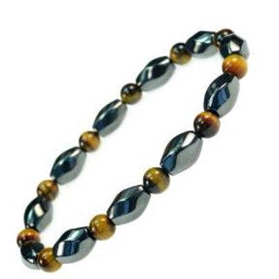 3 X Power Beautiful Magnetic Simulated Hematite with Simulated Tiger Eye