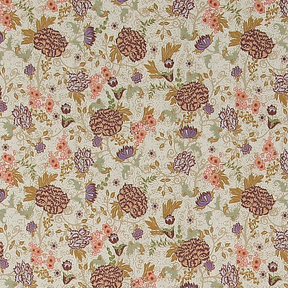 Bomull - Creme floral