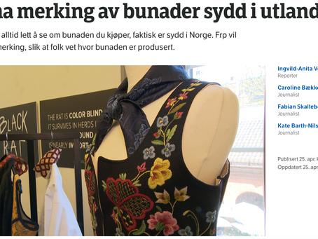 NRK - Vil ha merking av bunader sydd i utlandet