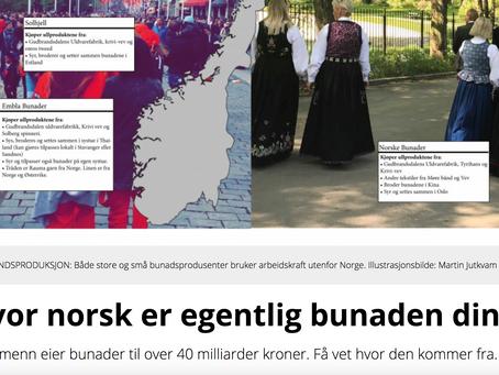 Journalen - Hvor norsk er egentlig bunaden din?