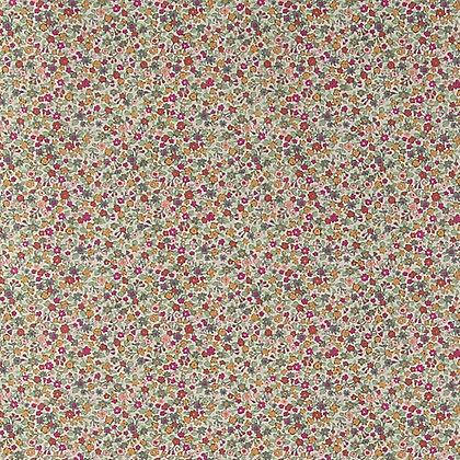 Skjortestoff - Bomull - Creme blomst
