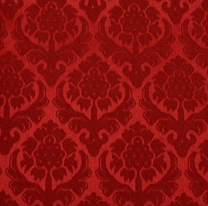 Brokade - Granateple 1 Rød