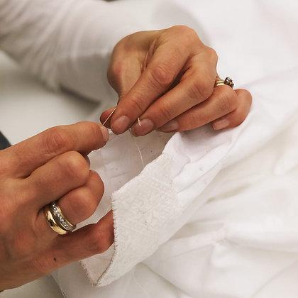 Hvit skjortebomull