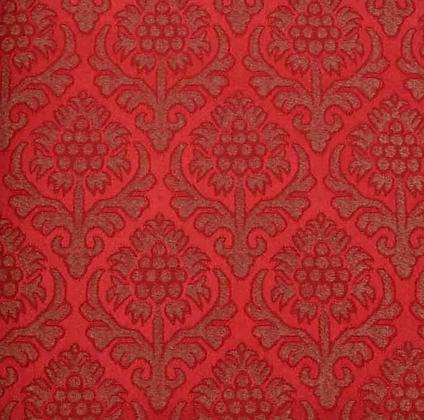 Brokade - Granateple 1 Rød/Gull