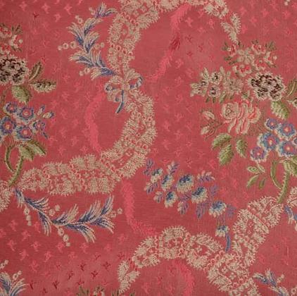 Brokade - Dauphin Rød/rosa