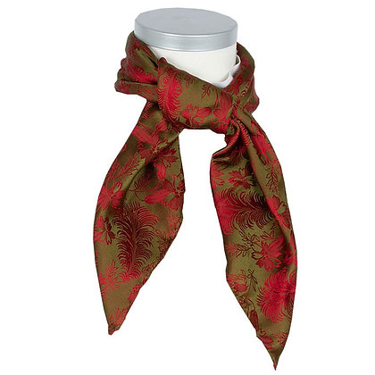 Silkesjal - Vilde Grønn/Rød