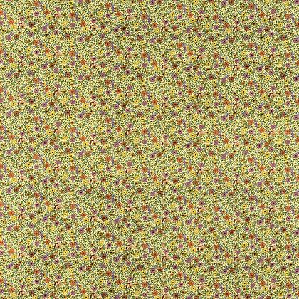 Skjortestoff - Bomull - Lemon