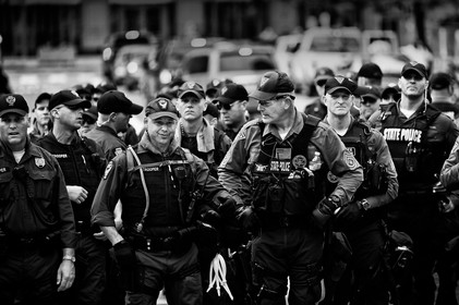 In Cleveland, nothing was as usual during the party convention where Donald Trump was chosen to be the Republican presidential candidate. About 5,000 police officers and security guards protected Cleveland in a massive security operation.
