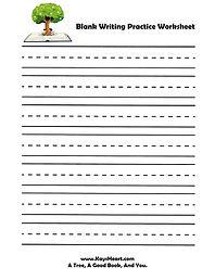 Blank Writing Practice Worksheet JPEG.jp
