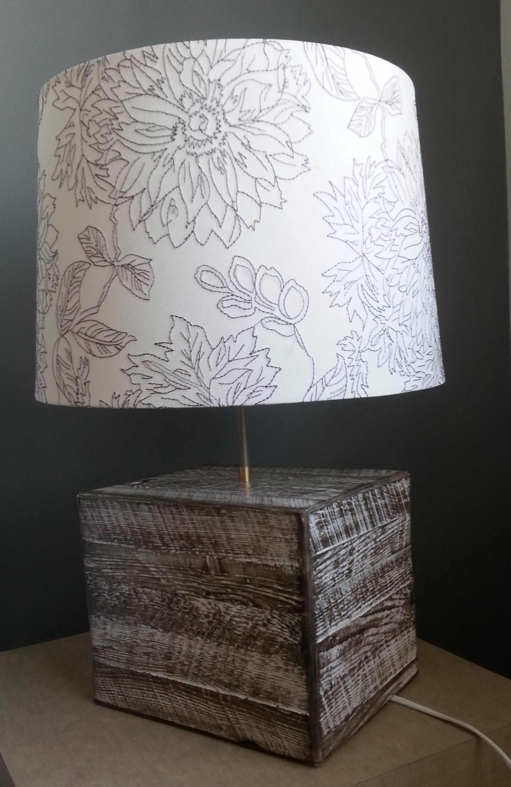 Lampe Bois de grange