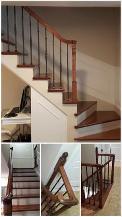 Escalier en érable.