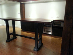 Table bar et caisson comptoir
