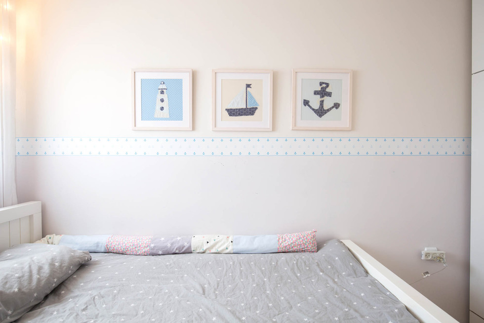 תמונות רכות מבד בחדר הילדים