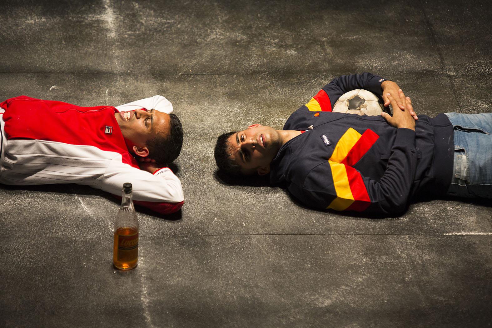 (L-R) Jay Varsani (Riaz) and Hareet Deol