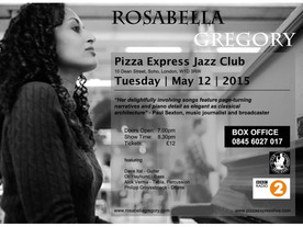 Rosabella Gregory singer songwriter of City Stories is performing a solo gig