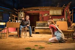 l-r Orlando Bloom (Killer Joe Cooper), Sophie Cookson (Dottie Smith) - Killer Joe at Trafalgar Studi