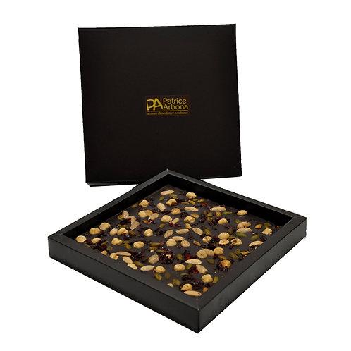 Plaque gourmande au chocolat noir