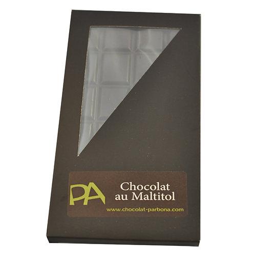 Tablette créateur au chocolat noir au maltitol