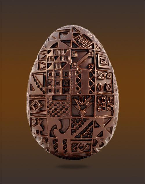 Fabrication de chocolat de Pâques
