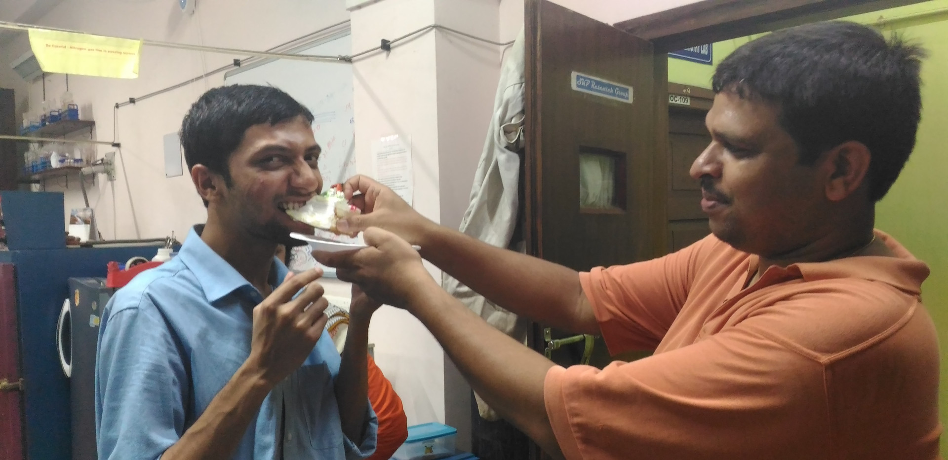 Last birthday celebration of Sourav Anna in our lab