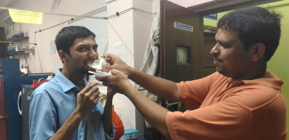 Last birthday celebration of Sourav Anna in our lab