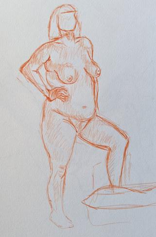 10min sketch ballpoint