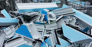 Post Industrial Waste, PVCu window profile recycling, Plastics Regrind