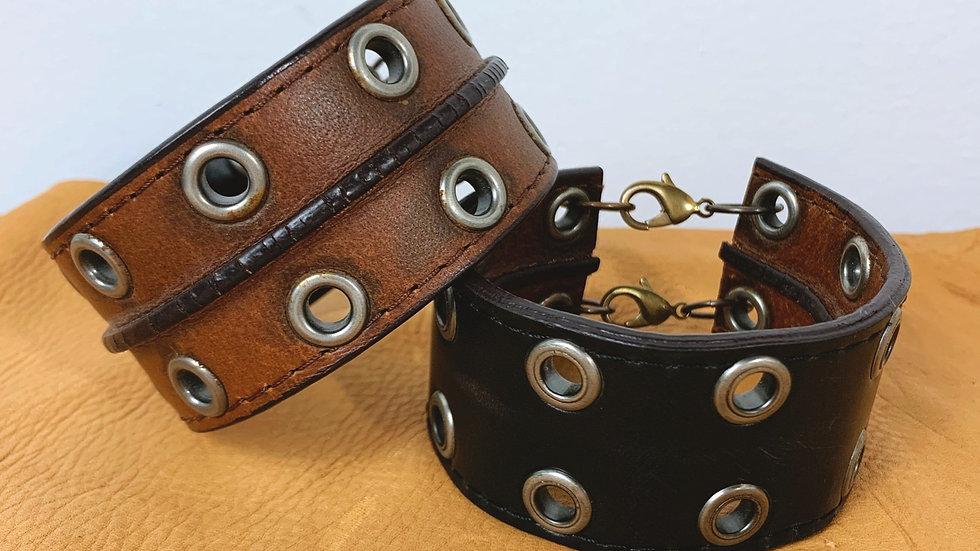 Upcycled belt cuff