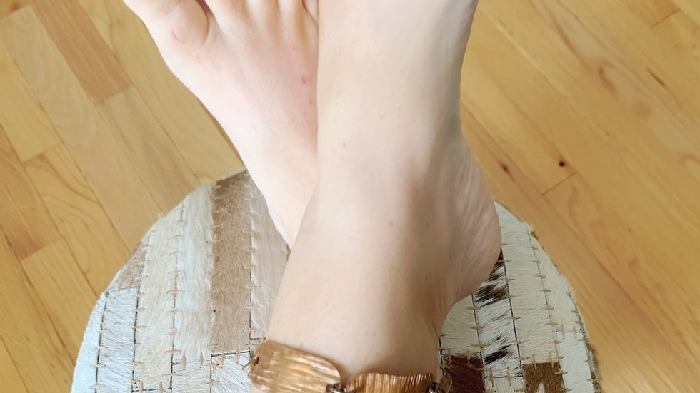 Funky copper & brass anklet