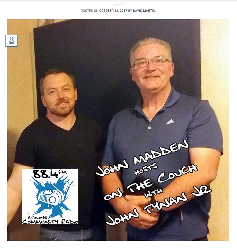 John Tynan at Athlone Community Radio