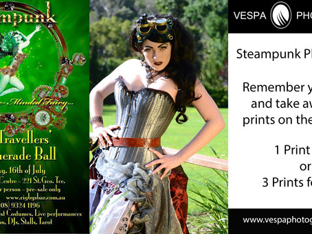 Steampunk and Time Travellers Masquerade Ball