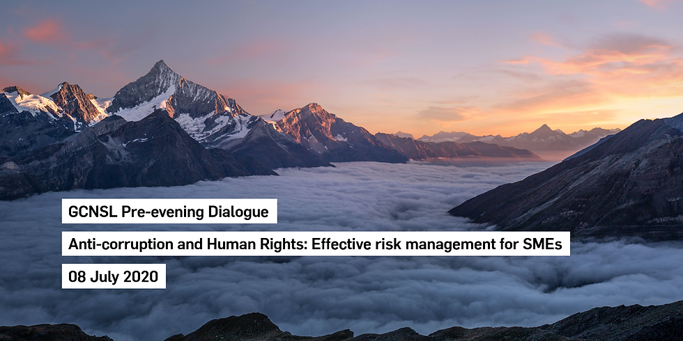 Pre-evening Dialogue: Anti-corruption and human rights - effective risk management for SMEs