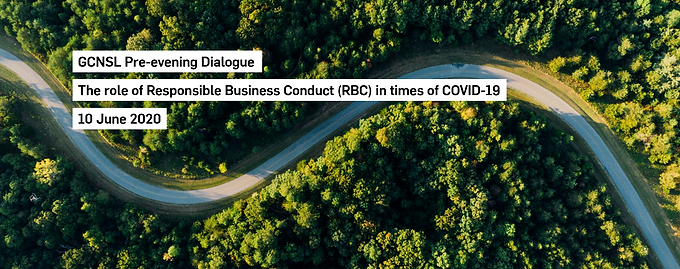 Pre-evening Dialogue: The role of Reponsible Business Conduct (RBC) in times of Covid-19
